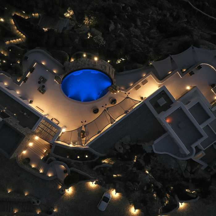 Aerial view by night