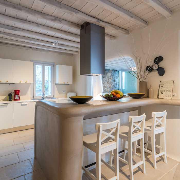 Villa Melmastia Mykonos - Main kitchen area