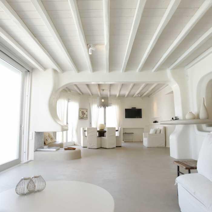 Villa Melmastia Mykonos - Living room