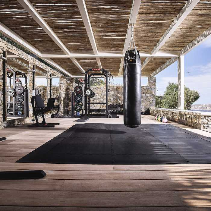 Gym outdoor area